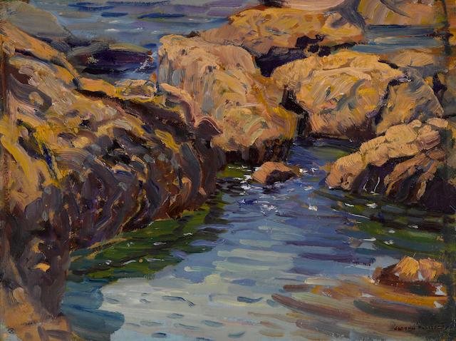 Joseph Kleitsch (1882-1931) Arch Beach 11 3/4 x 15 3/4in
