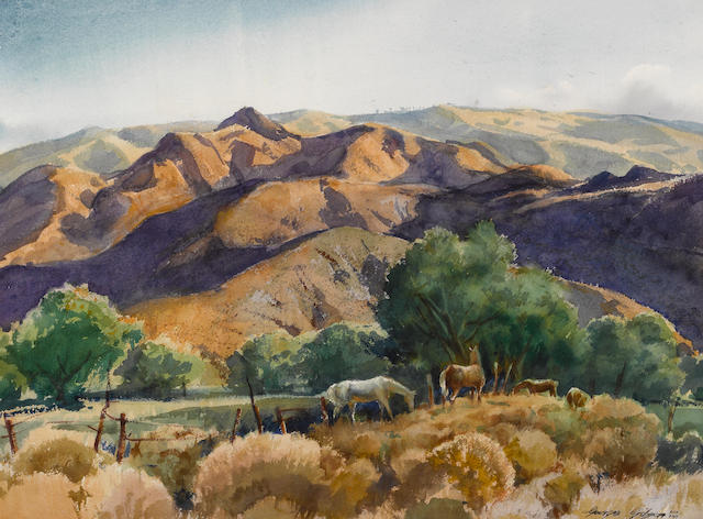 George Gibson (American, 1904-2001) Sunswept Santa Clara, 1959 22 x 30in