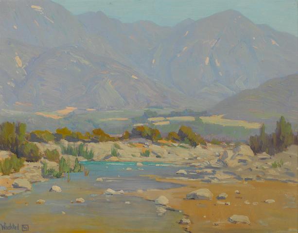 Elmer Wachtel (American, 1864-1929) San Gabriel Wash 14 x 18in