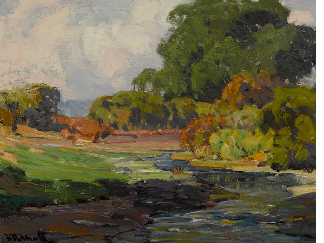 Hanson Puthuff (American, 1875-1972) Smiling rivulet 12 x 15 3/4in