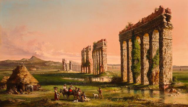 John Linton Chapman (American, 1839-1905) Claudian Acqueduct 20 3/8 x 34 3/4in