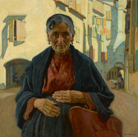 Ernest Martin Hennings (American, 1886-1956) Hands of toil, Chioggia, Italy, 1927 30 x 30in