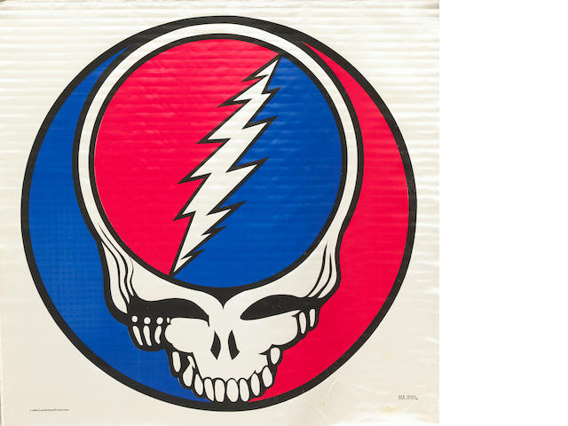"From the Collection of Rock Scully, a Grateful Dead ""Steal Your Face"" logo banner"