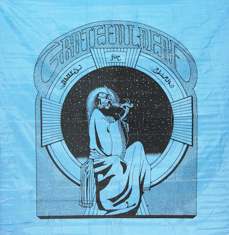 From the Collection of Rock Scully, a Grateful Dead Blues for Allah album cover art banner