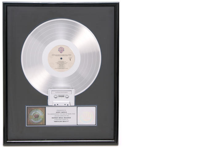 Jerry Garcia's American Beauty Platinum album, given by Jerry to his daughter, Annabelle