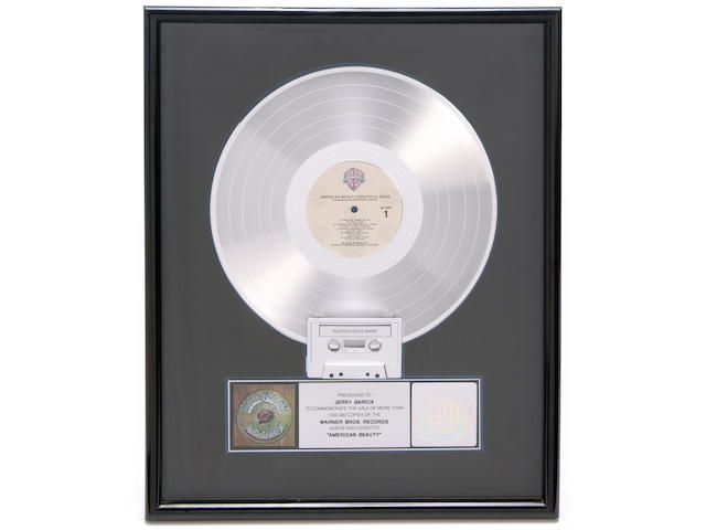 Jerry Garcia's American Beauty Platinum album, given by Jerry to his daughter, Annabelle. ca. 1970