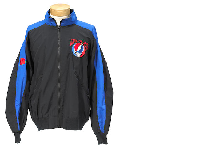 "One-of-a-kind Grateful Dead jacket, with ""Steal Your Face"" embroidery"