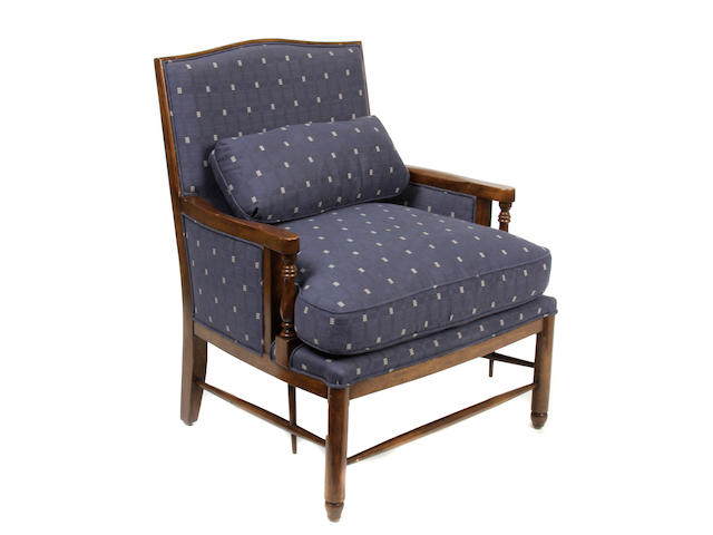 A William (Billy) Haines upholstered fruitwood armchair