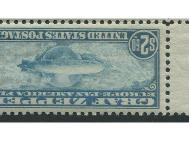 65c-$2.60 Graf Zeppelin (C13-15) blocks of four with plate number, top pairs hinged, glazed gum, two C15 with gum creases, fine-very fine set. $6,110.00
