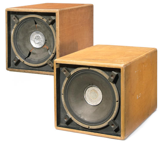 "Two original, onstage used ""Wall of Sound"" speakers"