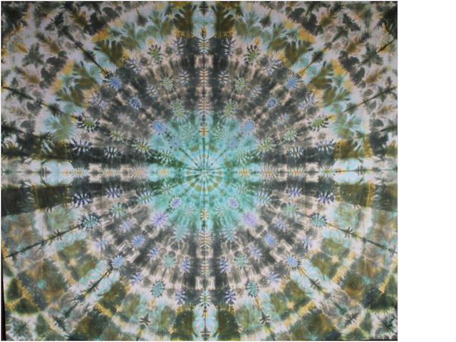 Courtenay Pollock Tie-Dye art: Grateful Dead Stage Mandala, ca. 1970s