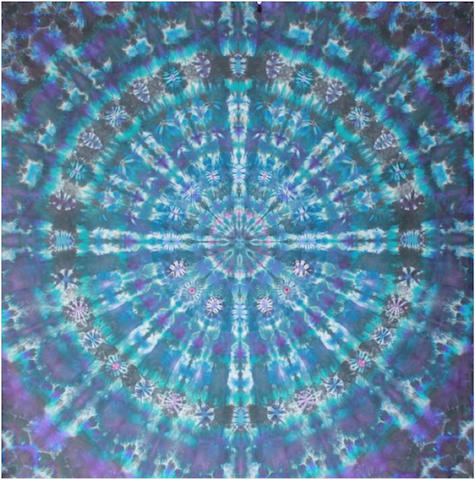 "Courtenay Pollock Tie-Dye art, ""Dawn of the Light Mandala"""