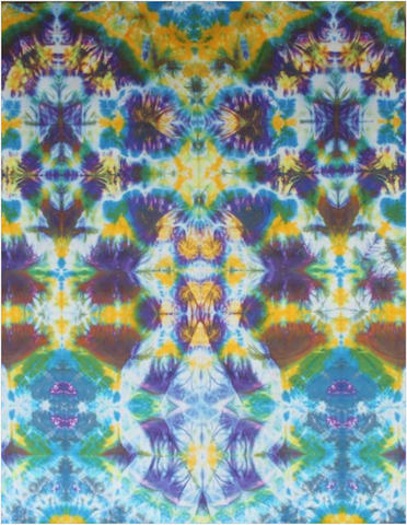 "Courtenay Pollock Tie-Dye art, ""Grid Avatar"""