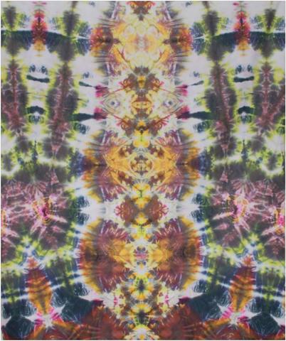 "Courtenay Pollock Tie-Dye art, ""Chakra Totem"""