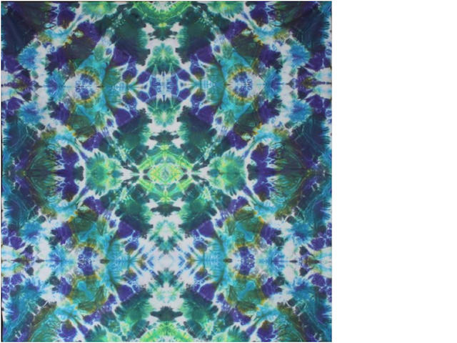 "Courtenay Pollock Tie-Dye art, ""Parallel Dimensions"""