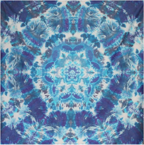 "Courtenay Pollock Tie-Dye art, ""Flower of Life"""