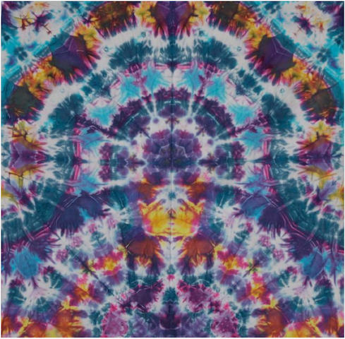 "Courtenay Pollock Tie-Dye art, ""The Meditating Buddha"""
