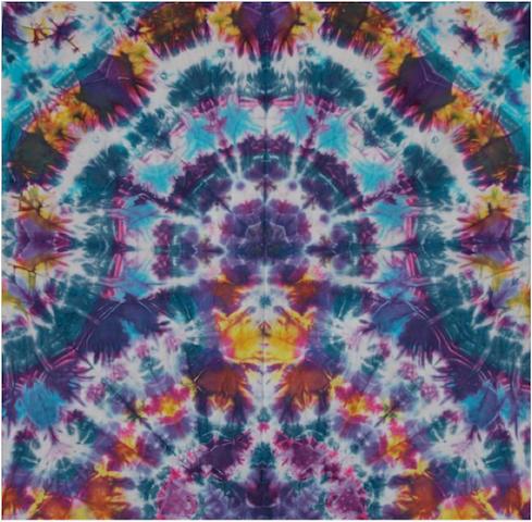"Courtenay Pollock Tie-Dye art, ""The Meditating Buddha"""
