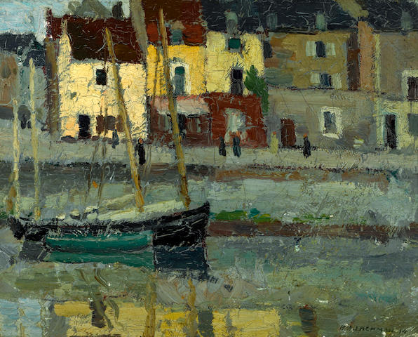 Harry B. Lachman (American, 1886-1975) Dieppe, Normandy, 1914; Hiver en Suisse, 1915 (a pair) each 10 1/2 x 13 3/4in