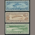 65c-$2.60 Graf Zeppelin (C13-15) lightly hinged, $2.60 with trivial natural inclusion, still fine-very fine set. $1,155.00