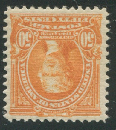 50c orange 1902-03 Issue (310) well centered, lightly hinged, very fine. $400.00