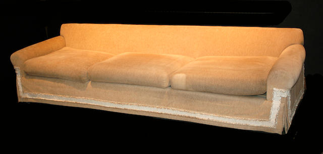 A suite of contemporary upholstered furniture