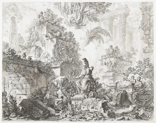 Giovanni Battista Piranesi (Italian, 1720-1778); Frontispiece, from Vedute di Roma;