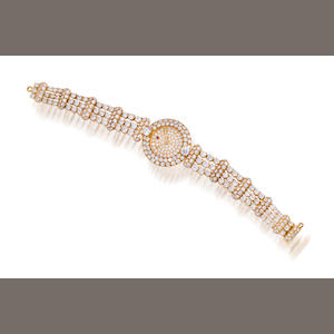 A diamond bracelet wristwatch,