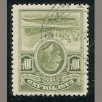 Basutoland, 1933 1/2p-10sh (1-10, S.G. 1-10) 1/2p three, 1p two, shades, light cancels, fine-very fine. $367.30 (S.G.L300+)