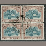 "South Africa, 1945 2sh 6p green & brown (44c, S.G.49) block of four, bottom left copy variety ""line through AFRIKA"", centered GROOTORINK 15 Aug 41 c.d.s., very fine. $300.00 (S.G. £220)"