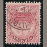 1924 1p red carmine variety: Flag Flaw (83 var, S.G. 78d var) light cancel, fine, Ex. Ludington. Est. Cash Value $120-150