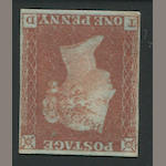 1841 1p red brown (3, S.G. 8) lettered T-D, clear to ample margins all round, part o.g., very fine. $550.00 (S.G. £500)