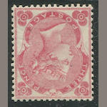 1862 3p pale rose (37, S.G. 77) sheet margin watermark, fresh bright color and paper, excellent centering, original gum, extremely fine. $2,000.00 (S.G. £2,000)