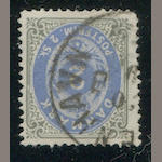 Denmark 1871 2s gray & ultramarine (16c) Copenhagen c.d.s., well-centered, almost very fine. $775.00