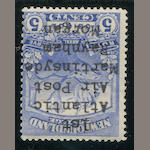 Newfoundland Air Post 1919 5c Martinside o.g., fine, attempt to forge the very rare five line overprint. Est. Cash Value $75-100