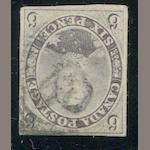 6p gray violet (5d) thick hard paper, indistinct cancel, good to just clear margins, almost very fine, with P.F. certificate. $3,000.00