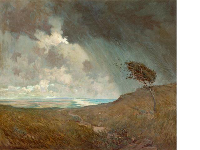 Granville Redmond (American, 1871-1935) Coastal storm, 1905 42 x 50in