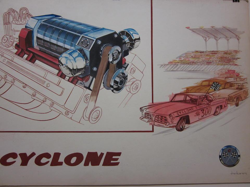 A lot of two original Bill Dobson illustrations, c.1960s,