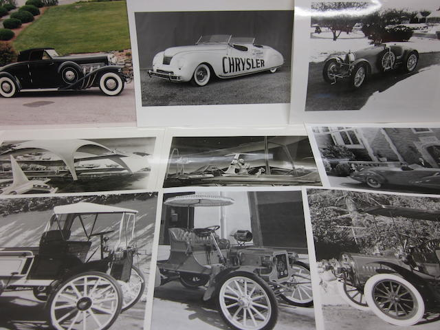 A large grouping of Automobile photographs,