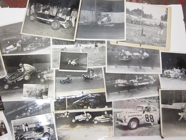 A quantity of Midget racing photographs, c. 1945,