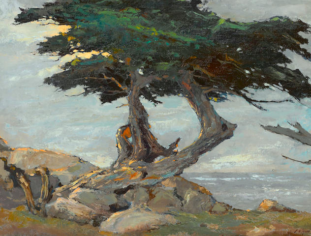 Si Chen Yuan (1911-1974) Coastal cypress 24 1/2 x 32 1/2in