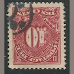 Postage Due, 1910-12 10c deep claret (J49) enormous used copy, neat cancel, insignificant corner perf. crease, extremely fine. Est. Cash Value $100-120