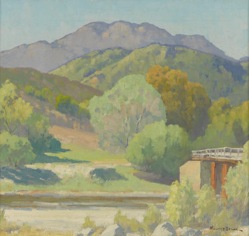 Maurice Braun (American, 1877-1941) California river 16 x 20in
