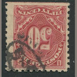 Postage Due 1914 50c carmine lake (J58) straight edge and guide line at bottom, light cancel, tiny thin specks, otherwise fine, with P.S.A.G. certificate (2011). $1,500.00