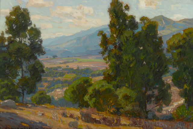 William Wendt (American, 1865-1946) A Vista of California (La Canada), 1916 24 1/4 x 36in