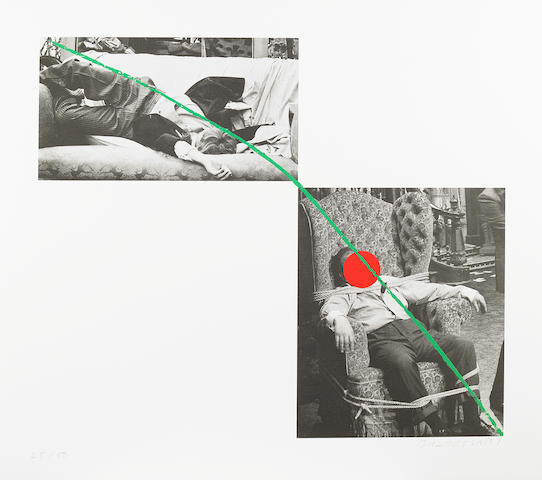 John Baldessari (American, born 1931); A Suite of Five Lithographs for Tristram Shandy;