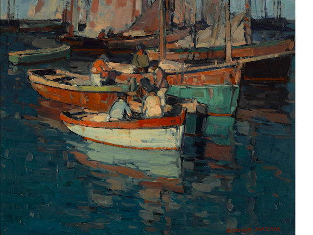 Edgar Payne (1883-1947) Breton fishermen, Concarneau, France 16 1/4 x 20 1/4in