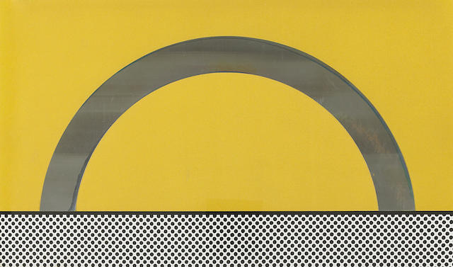 Roy Lichtenstein (American, 1923-1997); Landscape 7, from Ten Landscapes;