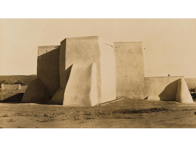 Dorothea Lange (American, 1895-1965); Ranchos de Taos church, New Mexico;