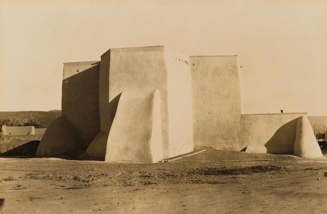 Dorothea Lange (American, 1895-1965); Ranchos de Taos church, New Mexico;